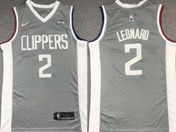 Mens 2021 Nba Los Angeles Clippers #2 Kawhi Leonard Gray Earned Edition Nike Swingman Jersey