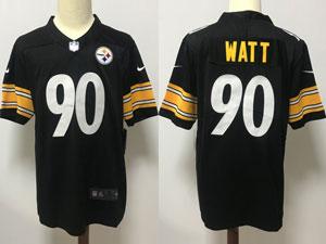 Mens Nfl Pittsburgh Steelers #90 Jj Watt Black Vapor Untouchable Limited Nike Jersey