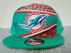 Mens Nfl Miami Dolphins Falt Snapback Adjustable Hats Multicolor