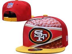 Mens Nfl San Francisco 49ers Falt Snapback Adjustable Hats Multicolor