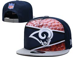 Mens Nfl Los Angeles Rams Flat Snapback Adjustable Hats Multicolor