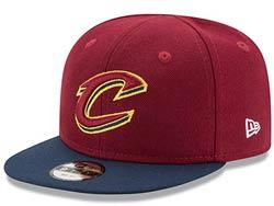Mens Nba Cleveland Cavaliers Falt Snapback Adjustable Hats Red Color