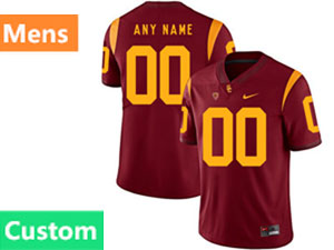 Mens Ncaa Nfl Usc Trojans Southern California Custom Made Red Vapor Untouchable Limited Nike Jersey