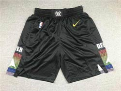 Mens Nba Denver Nuggets Black City Edition Nike Shorts