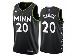 Mens 2021 Nba Minnesota Timberwolves #20 Josh Okogie Black City Edition Nike Swingman Jersey