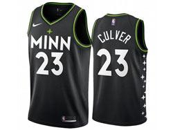 Mens 2021 Nba Minnesota Timberwolves #23 Jarrett Culver Black City Edition Nike Swingman Jersey