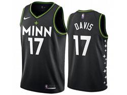 Mens 2021 Nba Minnesota Timberwolves #17 Davis Black City Edition Nike Swingman Jersey