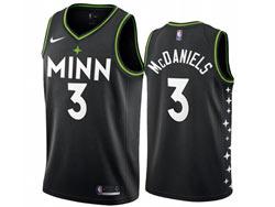 Mens 2021 Nba Minnesota Timberwolves #3 Jarred Vanderbilt Black City Edition Nike Swingman Jersey