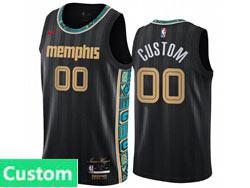Mens Womens Youth 2021 Nba Memphis Grizzlies Custom Made Black City Edition Nike Swingman Jersey
