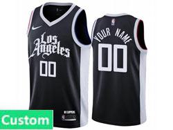 Mens Womens Youth 2021 Nba Los Angeles Clippers Custom Made Black City Edition Nike Swingman Jersey
