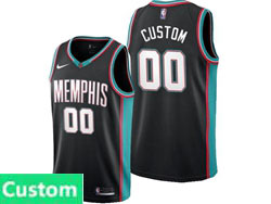 Mens 2021 Nba Memphis Grizzlies Custom Made Black Classic Edition Nike Swingman Jersey
