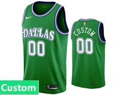 Mens Womens Youth 2021 Nba Dallas Mavericks Custom Made Green Hardwood Classics Nike Swingman Jersey