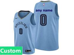 Mens Womens Youth Nba Memphis Grizzlies Custom Made Light Blue Statement Edition Nike Swingman Jersey