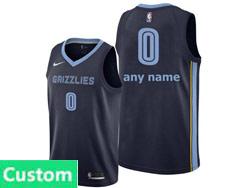 Mens Womens Youth Nba Memphis Grizzlies Custom Made Dark Blue Icon Edition Nike Swingman Jersey