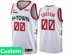 Mens Womens Youth 2020 Nba Houston Rockets Custom Made White H-town City Edition Nike Swingman Jersey