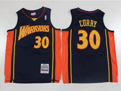 Mens Nba Golden State Warriors #30 Stephen Curry Dark Blue Mitchell&ness 2009-10 Hardwood Classics Swingman Jersey