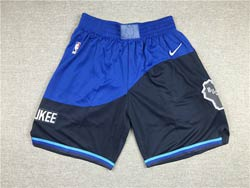 Mens Nba Milwaukee Bucks Blue City Edition Nike Shorts