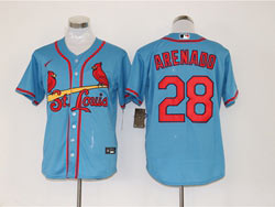 Mens Mlb St.louis Cardinals #28 Nolan Arenado Light Blue Cool Base Nike Jersey