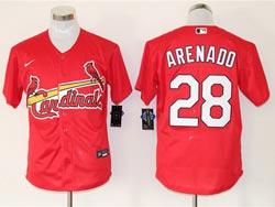 Mens Mlb St.louis Cardinals #28 Nolan Arenado Red Cool Base Nike Jersey