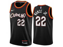 Mens 2021 Nba Cleveland Cavaliers #22 Larry Nance Jr. Black City Edition Swingman Nike Jersey