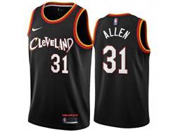 Mens 2021 Nba Cleveland Cavaliers #31 Allen Black City Edition Swingman Nike Jersey
