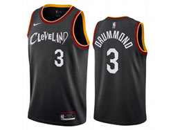 Mens 2021 Nba Cleveland Cavaliers #3 Andre Drummond Black City Edition Swingman Nike Jersey