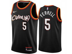 Mens 2021 Nba Cleveland Cavaliers #5 Ferrell Black City Edition Swingman Nike Jersey