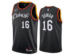 Mens 2021 Nba Cleveland Cavaliers #16 Cedi Osman Black City Edition Swingman Nike Jersey