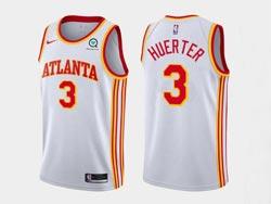 Mens Nba Atlanta Hawks #3 Kevin Huerter White 2020-21 Icon Edition Swingman Nike Jersey