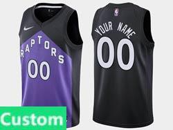 Mens Womens Youth 2021 Nba Toronto Raptors Custom Made Black/purple Earned Edition Nike Swingman Jersey