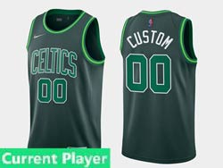 Mens Women Youth 2021 Nba Boston Celtics Current Player Green Earned Edition Nike Swingman Jersey