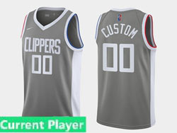 Mens Womens Youth 2021 Nba Nike Los Angeles Clippers Current Player Gray Earned Edition Nike Swingman Jersey