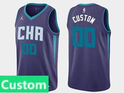 Mens Women Youth 2021 Nba Charlotte Hornets Custom Made Jordan Brand Purple Statement Edition Swingman Jersey
