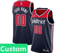 Mens Womens Youth Nba Washington Wizards Custom Made Jordan Brand Navy Statement Edition Swingman Jersey