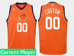Mens Womens Youth Nba Phoenix Suns Current Player Jordan Brand Orange Statement Edition Swingman Jersey