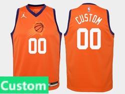 Mens Womens Youth Nba Phoenix Suns Custom Made Jordan Brand Orange Statement Edition Swingman Jersey