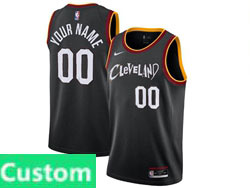 Mens Women Youth 2021 Nba Cleveland Cavaliers Custom Made Black City Edition Swingman Nike Jersey