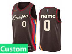 Mens Womens Youth 2021 Nba Portland Trail Blazers Custom Made Black City Edition Nike Swingman Jersey