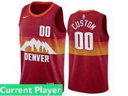Mens Womens Youth 2021 Nba Denver Nuggets Current Player Red City Edition Nike Swingman Jersey