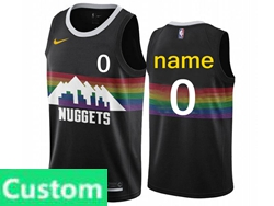 Mens Women Youth 2019-20 Nba Nike Denver Nuggets Custom Made Black City Edition Nike Swingman Jersey