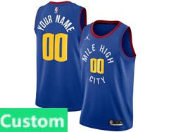 Mens Womens Youth 2021 Nba Denver Nuggets Custom Made Blue Jordan Brand Statement Edition Nike Swingman Jersey