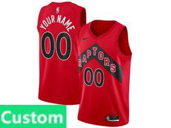 Mens Womens Youth 2021 Nba Toronto Raptors Custom Made Red Icon Edition Nike Swingman Jersey