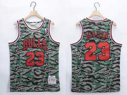Mens Nba Chicago Bulls #23 Michael Jordan Camo Mitchell&ness Hardwood Classics Swingman Jersey