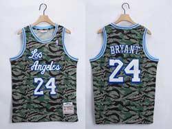 Mens Nba Los Angeles Lakers #24 Kobe Bryant Triple Camo Mitchell&ness Hardwood Classics Swingman Jersey