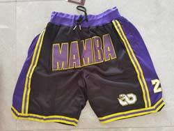 Mens Nba Los Angeles Lakers #8 Black Gold Just Don Pocket Shorts