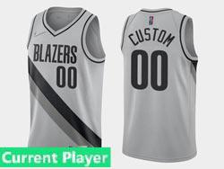 Mens Womens Youth 2021 Nba Portland Trail Blazers Current Player Gray Earned Edition Nike Swingman Jersey