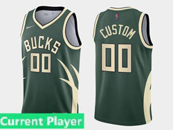 Mens Womens Youth 2021 Nba Milwaukee Bucks Current Player Green Earned Edition Nike Swingman Jersey