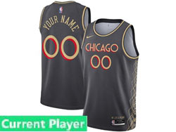 Mens Women Youth 2021 Nba Chicago Bulls Current Player Black City Edition Nike Swingman Jersey
