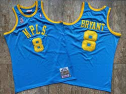 Mens Nba Los Angeles Lakers Mpls #8 Kobe Bryant Blue 2001-02 Mitchell&ness Hardwood Classics Swingman Jersey