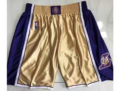 Mens Nba Los Angeles Lakers #24 Gold Just Don No Pocket Shorts
